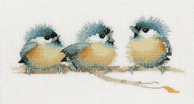 Sitting Pretty  by Valerie Pfeiffer Cross Stitch Kit